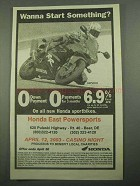 2003 Honda CBR 954RR Motorcycle Ad - Start Something?
