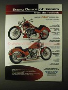 2001 Drag Specialties Motorcycle Parts Ad - Venom