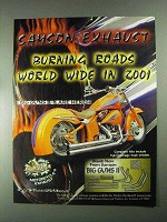 2001 Samson Exhaust Big Guns II Ad - Burning Roads