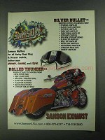 2001 Samson Exhaust Silver Bullet and Rolled Thunder Ad
