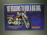 2001 Big Dog Boxer Motorcycle Ad - 107 Reasons to Ride