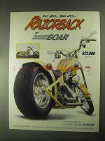2000 Boar Razorback Motorcycle Ad - Fat Ass Bad Ass