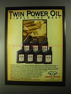 2000 Biker's Choice Twin Power Oil Ad - Simply the Best