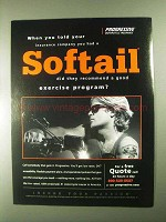 2000 Progressive Motorcycle Insurance Ad - A Softail