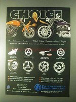 2000 Performance Machine Motorcycle Parts Ad - Choice