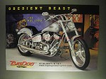 2000 Big Dog Bulldog Motorcycle Ad - Obedient Beast
