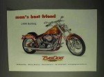 1999 Big Dog Bulldog Motorcycle Ad - Man's Best Friend