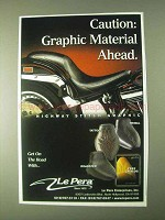 2000 Le Pera Seats Ad - Highway Stitch Graphic, Tattoo