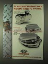 1999 Biker's Choice Xzotic Pan Covers Ad - Retro