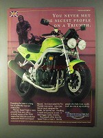 1999 Triumph Speed Triple Motorcycle Ad - Never Met