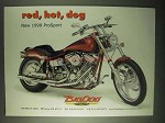 1999 Big Dog ProSport Motorcycle Ad - Red, Hot, Dog