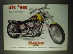 1999 Big Dog Pitbull Motorcycle Ad - Sic 'Em