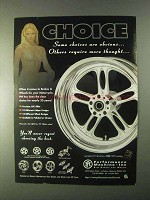 1999 Performance Machine Brakes & Wheels Ad - Some Choices are Obvious