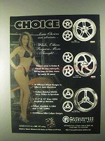 1999 Performance Machine Wheels, Disc & Pulleys Ad - Choice