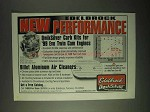 1999 Edelbrock QwikSilver Carb Kits Ad - Performance