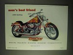 1999 Big Dog Bulldog Motorcycle Ad - Best Friend