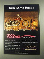 1998 Ultra Cycles Ad - Turn Some Heads