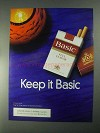 1998 Basic Cigarettes Ad - Keep it Basic