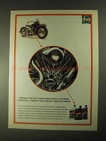 1997 Castrol Motorcycle V-Twin Oil Ad - For Harley