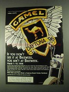1996 Camel Cigarettes Ad - See it At Bikeweek