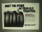 1994 Continental Tires Ad - 90 Year-Old Tradition