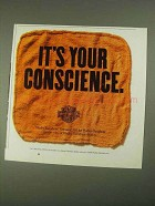 1994 Harley-Davidson Genuine Oil Ad - Your Conscience