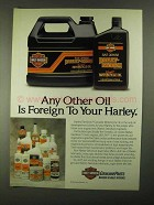 1991 Harley-Davidson Motorcycle Oil Ad - Other Foreign