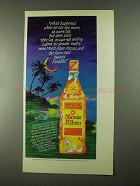 1989 Monte Alban Mezcal Ad - What Happened When