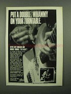 1987 Stevie Ray Vaughan Live Alive Album Ad - Whammy