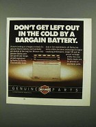 1987 Harley-Davidson Genuine Parts Ad - Battery