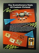 1986 Custom Chrome Parts and Accessories Ad - Style