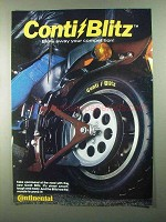 1986 Continental Conti Blitz Tires Ad - Blow Away
