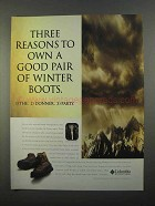 1997 Columbia Silcox Boots Ad - Three Reasons to Own