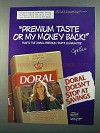 1996 Doral CigarettesAd - Premium Taste or Money Back