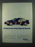 1996 ACDelco Car Parts Ad - Made in All These Parts