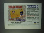 1996 MBNA NFL VISA Credit Card Ad - The Game, The Card