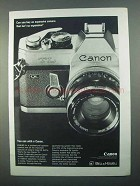 1968 Canon TL Camera Ad - Buy an Expensive Camera?
