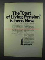 1968 Phoenix Mutual Ad - Cost Of Living Pension Now