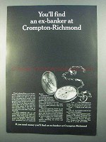 1968 Crompton-Richmond Ad - You'll Find an Ex-Banker