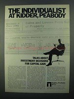 1968 Kidder, Peabody & Co Ad - The Individualist