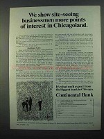 1968 Continental Bank Ad - Site-Seeing Businessmen