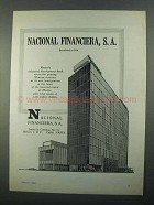 1968 Nacional Financiera Bank Ad