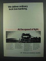 1968 Wells Fargo Bank Ad - Deliver Lock Box Banking