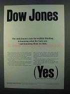 1968 Dow Jones Ad - Cure for Wishful Thinking