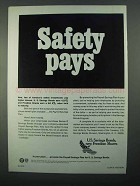 1968 U.S. Savings Bonds Freedom Shares Ad - Safety
