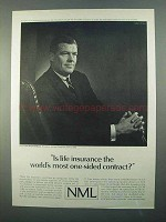 1968 Northwestern Mutual Life Ad - One-Sided Contract