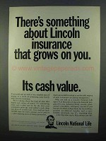 1968 Lincoln National Life Ad - Something Grows on You