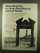 1968 Bache & Co Ad - Clear Direction in Mutual Funds
