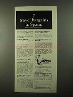 1968 Iberia Air Lines Ad - 7 Travel Bargains to Spain