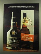 1968 Seagram's Benchmark Bourbon Ad - The Gift